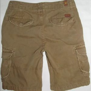 7 for All Mankind Washed Cargo Twill Long Shorts